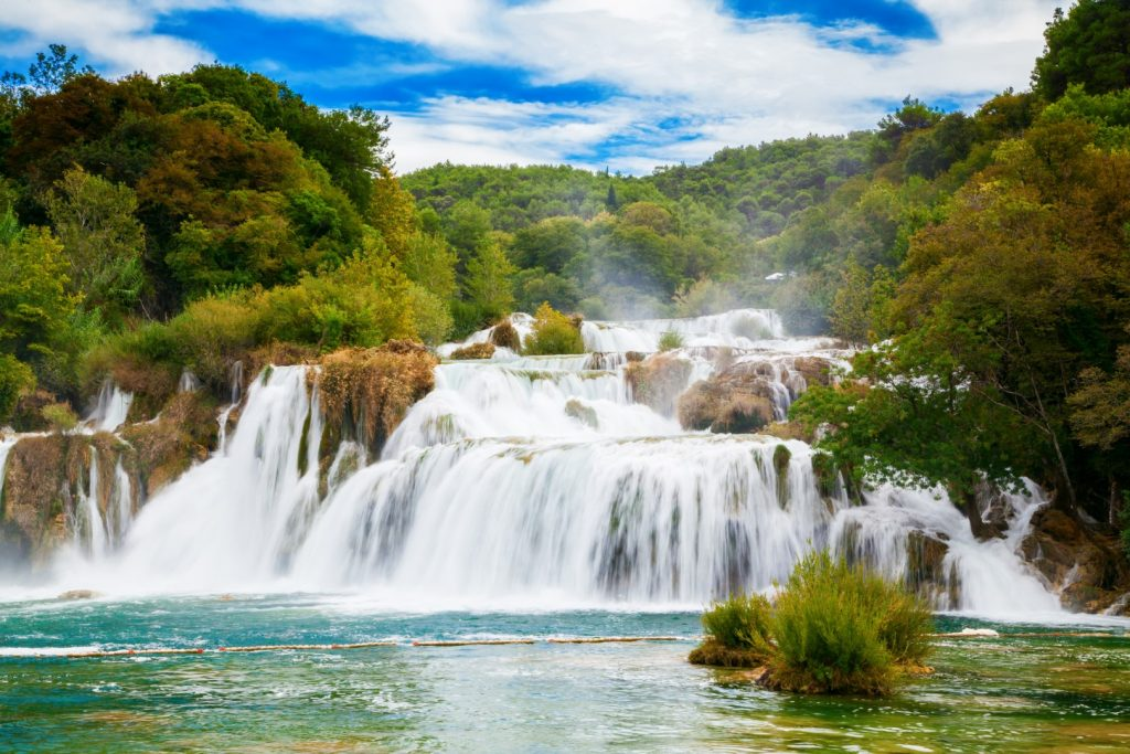 biggest waterfall krka national park skradinski buk croatia Large